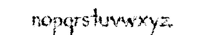 DeadGrit Font LOWERCASE