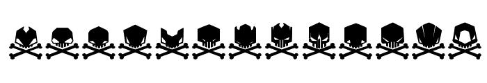 DeadHead Font UPPERCASE