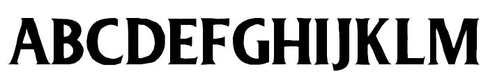 Deadhead Rough Font UPPERCASE