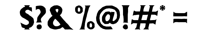 DeadheadRough Font OTHER CHARS