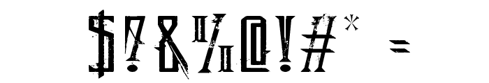 Deadly Black Chain Extended Font OTHER CHARS