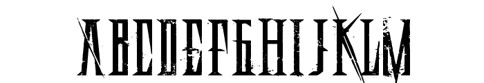 Deadly Black Chain Extended Font UPPERCASE