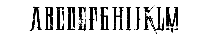 Deadly Black Chain Extended Font LOWERCASE