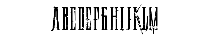 Deadly Black Chain Font LOWERCASE