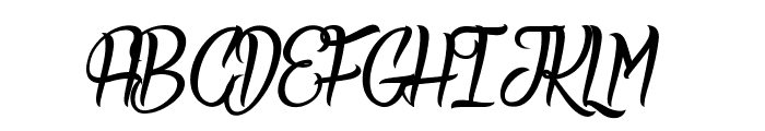 Deadly Inked Font UPPERCASE