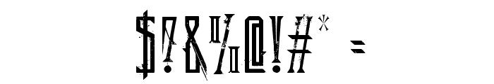 DeadlyBlackChain Font OTHER CHARS