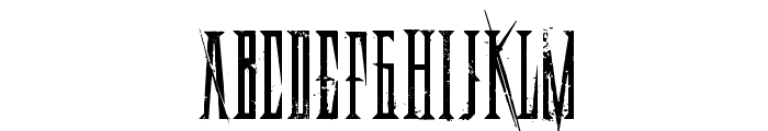DeadlyBlackChain Font UPPERCASE
