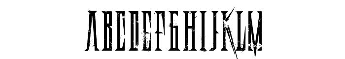 DeadlyBlackChain Font LOWERCASE