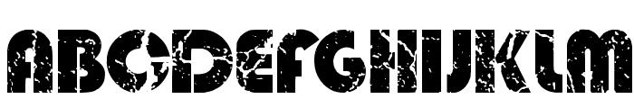 Deadmobil Font UPPERCASE