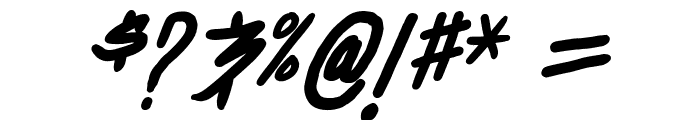 Dealspinner TBS Bold Italic Font OTHER CHARS