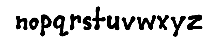 Deano's First Font LOWERCASE