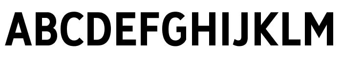 Deansgate Condensed Bold Font UPPERCASE