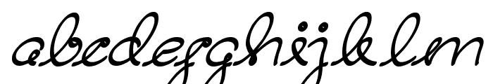 Dear Diary Font LOWERCASE