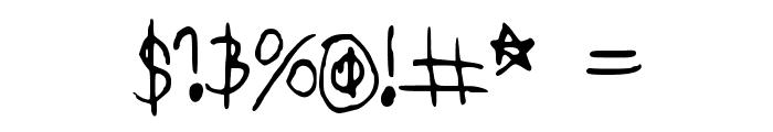 DearKatieNBP Font OTHER CHARS