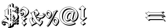 Dearest Outline Font OTHER CHARS