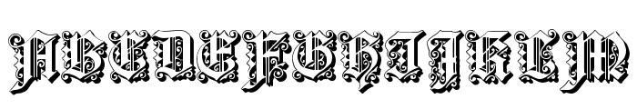 Dearest Outline Font UPPERCASE