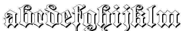 Dearest Outline Font LOWERCASE
