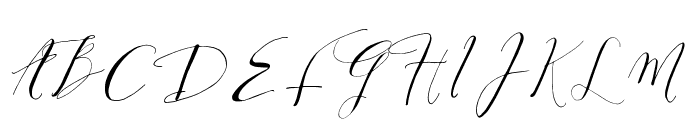 DearlyScript Font UPPERCASE
