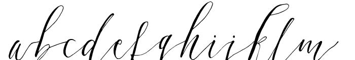 DearlyScript Font LOWERCASE