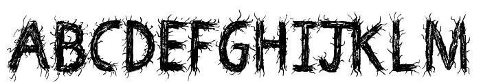 Death Branch Font UPPERCASE