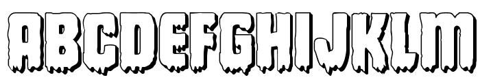 Deathblood 3D Font UPPERCASE