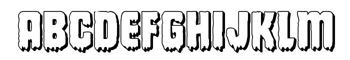Deathblood 3D Font LOWERCASE