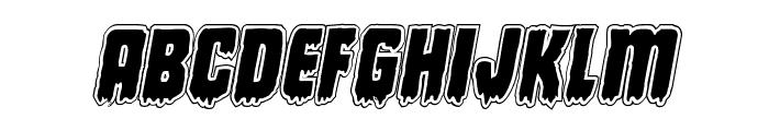Deathblood Academy Italic Font LOWERCASE