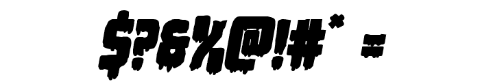 Deathblood Bold Italic Font OTHER CHARS