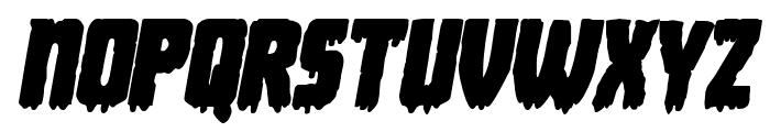 Deathblood Bold Italic Font UPPERCASE