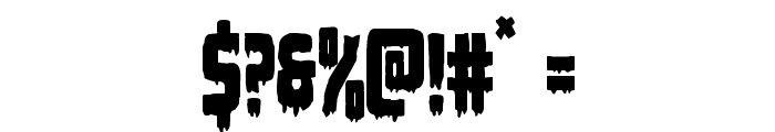 Deathblood Condensed Font OTHER CHARS