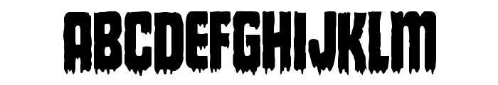 Deathblood Condensed Font UPPERCASE