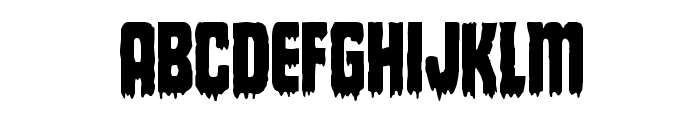 Deathblood Condensed Font LOWERCASE