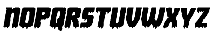 Deathblood Expanded Italic Font LOWERCASE