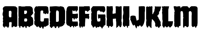 Deathblood Expanded Font UPPERCASE