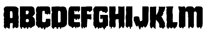 Deathblood Expanded Font LOWERCASE