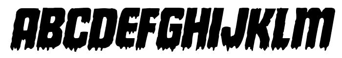 Deathblood Italic Font UPPERCASE