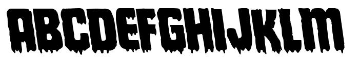 Deathblood Leftalic Font UPPERCASE