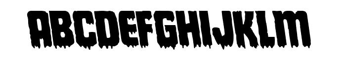 Deathblood Leftalic Font LOWERCASE