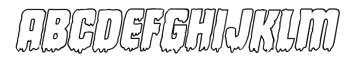 Deathblood Outline Italic Font UPPERCASE