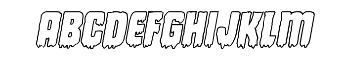 Deathblood Outline Italic Font LOWERCASE