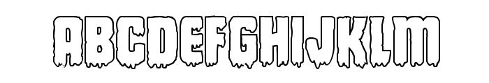 Deathblood Outline Font LOWERCASE