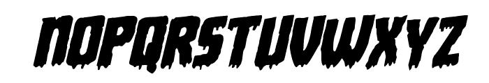 Deathblood Rotalic Font LOWERCASE
