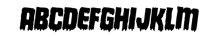 Deathblood Rotated 2 Font LOWERCASE