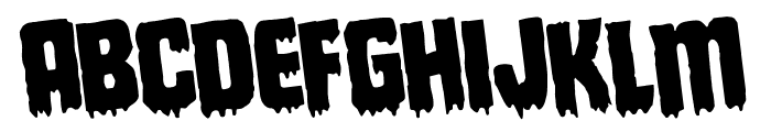 Deathblood Rotated Font UPPERCASE