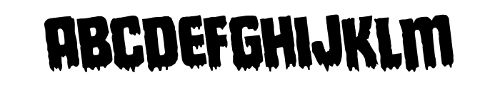 Deathblood Rotated Font LOWERCASE
