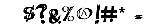 Deathhead KeltCaps Font OTHER CHARS