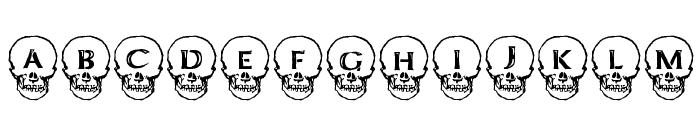 Deathhead KeltCaps Font UPPERCASE