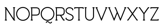 Debock Personal Use Regular Font UPPERCASE