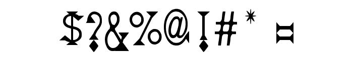 Deborah Condensed Font OTHER CHARS