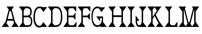 Deborah Condensed Font UPPERCASE